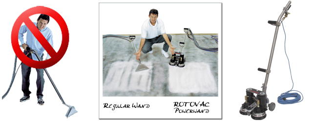 Carpet Cleaning Performance by Rotovac Powerwand